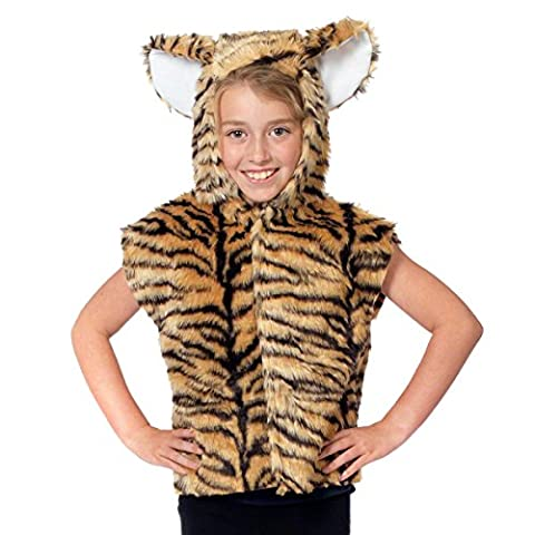 Tiger Costume for kids. One Size 3-9 Years. (Mädchen Tigerin Kostüm)