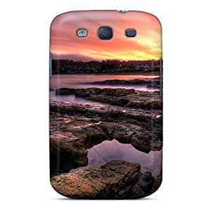 CgazWBA564hvVDv Case Cover, Fashionable Galaxy S3 Case - Sunset On A Coastal Town