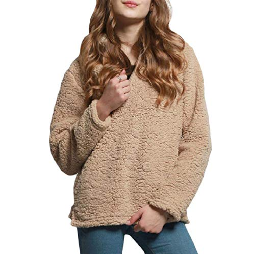 Inverno Solid Plush Donna Shirt Giacca Trench Warm Jacket Autunno Somoll Da Cachi Pullover zx0wwt