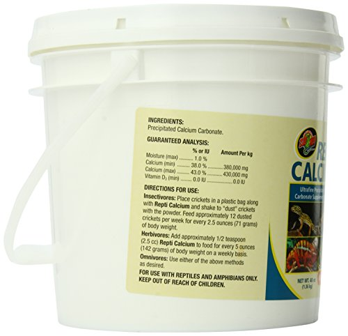 Image of Zoo Med Reptile Calcium Without Vitamin D3, 48 oz
