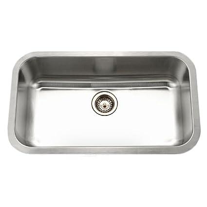 Houzer STL-3600 Eston Series Undermount Single Bowl Kitchen Sink T ...