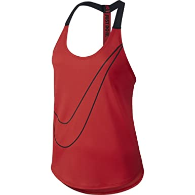 Nike Elastika Graphic Women s Training Tank Top Red Black 41806d92c
