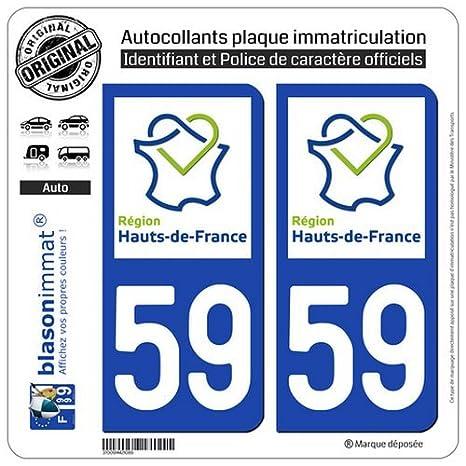 Paire Sticker immatriculation 18 Cher