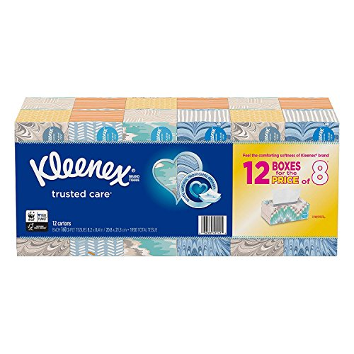 Kleenex Facial Tissue (12 Pack, 160 tissues)