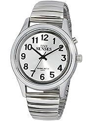 2nd Generation Talking Watch - Silver-Tone Alarm Day-Date Men Watch (ATK350G09)(M106)
