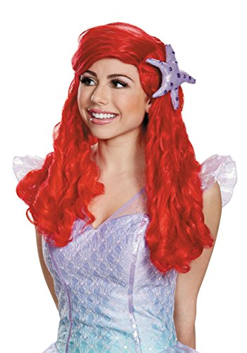 Princess Wigs For Adults (Disney Princess Ariel Ultra Prestige Adult Wig)