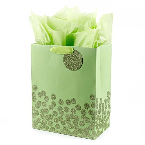Hallmark Large Gift Bag with Tissue (Green Dots) ()