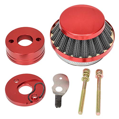 HIAORS Red 44mm Air Filter Adapter Velocity Stack for 2 Stroke 33cc 43cc 49cc Big Foot Gas Scooter MOTOVOX MVS10 EVO Gas Powered Scooter X Dirt Dog 43cc 47cc 49cc Engines ()
