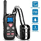 Dog Training Collar, Waterproof USB Rechargeable Dog Remote Trainer with Static Shock, Vibration and Beep Modes for Small,Medium,Large Breeds, 500Yard (1500ft) Range Electric Dog Collar