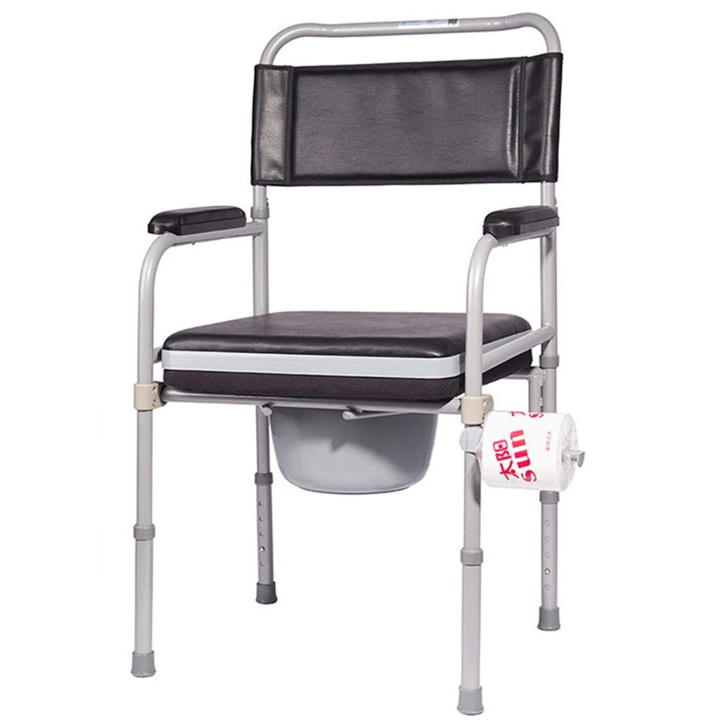 G-LXYZBQSHYP Elderly Bedside Commode Chair, Medical Adjustable Height Shower Toilet Chair, Bathroom Safety Frame Toilet Seat by G-LXYZBQSHYP