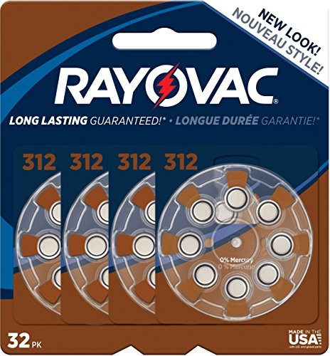 Rayovac Mercury Hearing Batteries L312ZA 32ZM