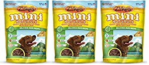 Zukes Mini Naturals dEGjx Healthy Moist Training Treats, Duck, 1 Pound (3 Pack)