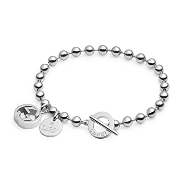 7aaeb98e1 Image Unavailable. Image not available for. Color: Gucci Boule Chain And  Charms Sterling Silver Bracelet Yba390954001017