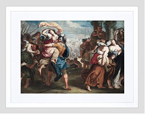 Wee Blue Coo Painting Van THULDEN Rape of The Sabine Women Framed Art Print F12X11269 (The Rape Of The Sabine Women Painting)