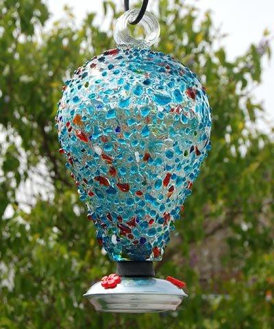 Parasol EIGHTY DAYS ~ Blown Glass Hummingbird Feeder - Sprinkles - Nectar Feeder - EDSPR ()