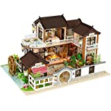 Per Newly Dollhouse Kit Miniature DIY Ancient Architecture Mini House LED Best Birthday Gifts Without Dust Cover