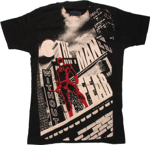 Daredevil Man Without Fear 30 Single T-Shirt- Small Black]()