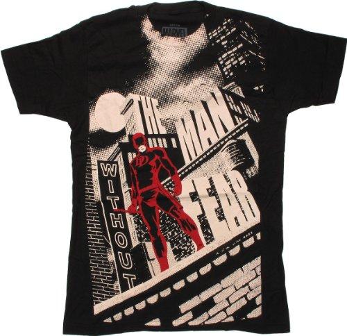 Daredevil Man Without Fear 30 Single T-Shirt- XXLarge Black