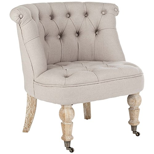 Safavieh Hudson Collection Baby Tufted Side Chair, (Hudson Chair Living Room Chair)