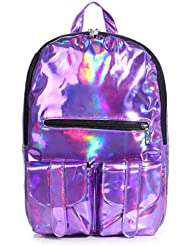 Women Hologram Backpacks Reflective Mirror Surface Backpack Girls School Bookbag