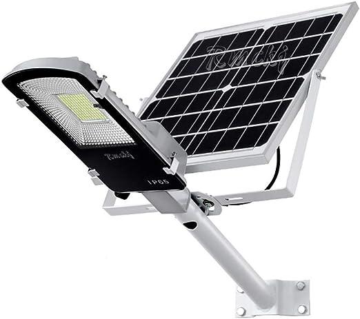 Rmckj-Q 10W-360W Luz Solar Exterior Impermeable IP65 LED Farola Solar con Soporte Ajustable Y Control Remoto/Sensor Crepuscular Luces De Jardín para Calle Patio Jardín (6500K,1 Piezas),20W: Amazon.es: Hogar
