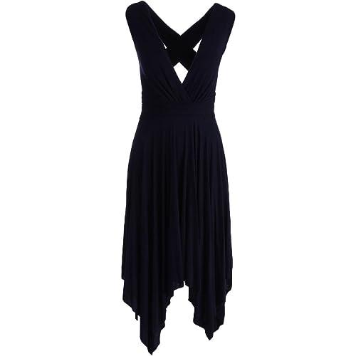 Bailey 44 Womens Jersey Asymmetrical Party Dress