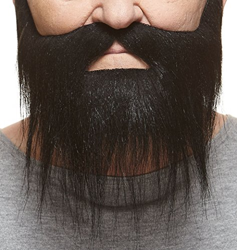 Mustaches Self Adhesive, Novelty, Hipster Fake Beard, False Facial Hair, Costume Accessory for Adults, Black Color for $<!--$17.99-->