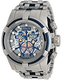Invicta Men's 12900 Bolt Reserve Chronograph Silver and Gold Tone Dial Stainless Steel Watch