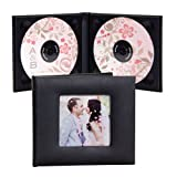 Deluxe Double CD/DVD Holder with Photo - Holds 2 Discs