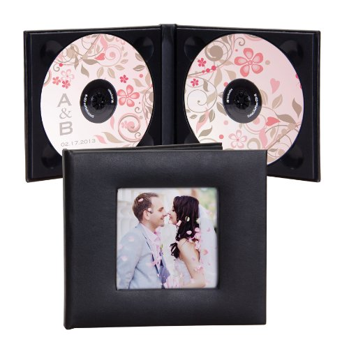 Deluxe Double CD/DVD Holder with Photo - Holds 2 Discs ()