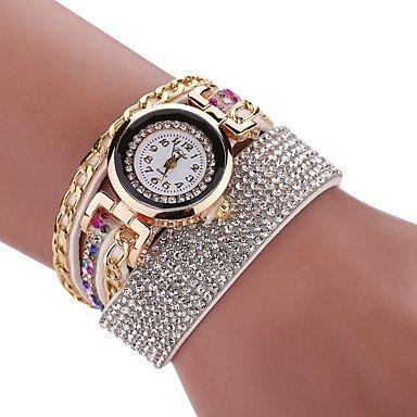 Bellos Relojes, reloj de imitación de diamante de la mujer reloj pulsera reloj chino cuarzo