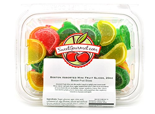 Boston Mini Assorted Fruit Jell Slices - Unwrapped (20oz) (Fruit Jell Slices compare prices)