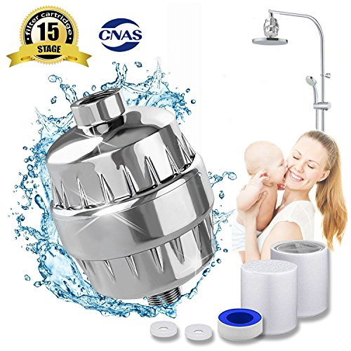 For Sale! 15-Stage Shower Filter Water Purifier Hard Water Softener with Replacement Cartridges Fit ...