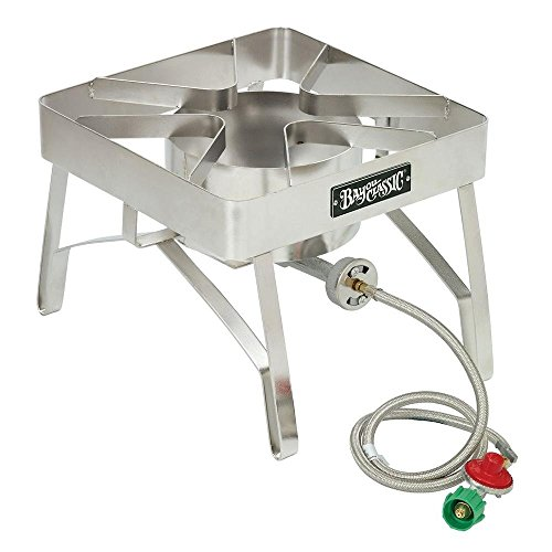 (Bayou Classic SS84 Stainless Steel Brew Stove with Windscreen)