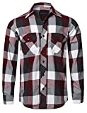 Style by William Men's Casual Plaid Flannel Woven Long Sleeves Button Down Shirt