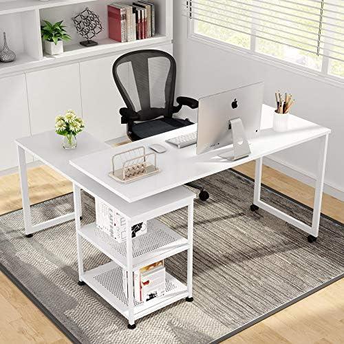 Best modern office desk: Tribesigns Reversible L-Shaped Desk