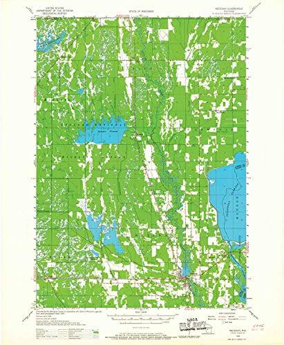 YellowMaps Necedah WI topo map, 1:48000 Scale, 15 X 15 Minute, Historical, 1958, Updated 1967, 27.08 x 22.25 in - Paper -