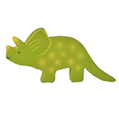 Tikiri My First Dino Baby Triceratops Natural Rubber Toy (Green): Toys & Games