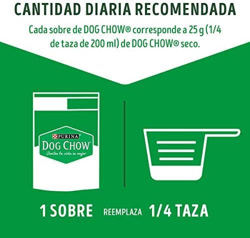 DOG CHOW Alimento Húmedo Adultos Razas Pequeñas Salmon, Paquete con 20 Pzas de 100g 5