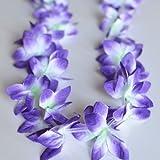 Hawaiian Small Orchid Lei- Purple (2 Count)