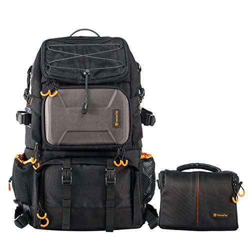 TARION Pro PB-01 Camera Backpack Black Large Capacity with Shoulder Case Bag DSLR Photography Outdoor Traveling Multi-Function Camera Bag