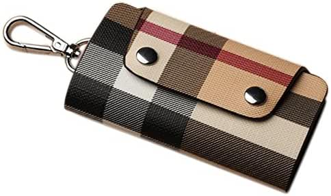 PU Leather Car Key Holder Bag Plaid Key Car Wallets Key Purse Pouch by Linsam