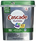 Cascade Platinum Dishwasher Detergent, 15x Strength with Dawn Grease Fighting Power, Fresh Scent (92 Count)