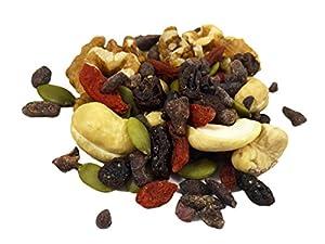 Raw Superfoods Trail Mix - The Works Goji Berries Golden Berries Mulberries Raisins Brazil Nuts Cashews Walnuts Pumpkin And Sunflower Seeds 24 Oz by BetterFoods, LLC