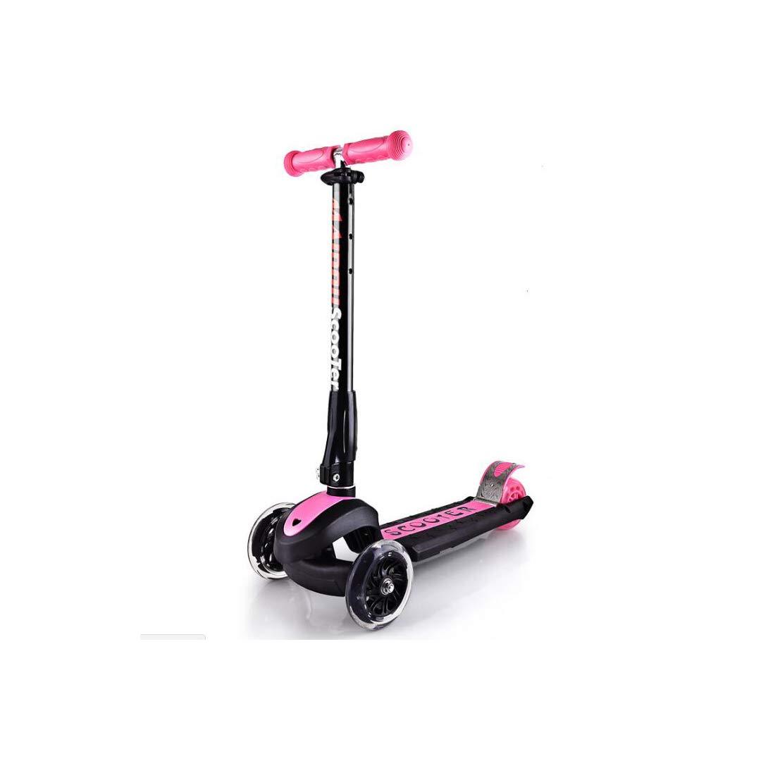 超ポイントアップ祭 TLMYDD : スクーター子供三輪折りたたみスクーターフラッシュホイールベビースケート、58.6×89センチ 子供スクーター (色 (色 : 青) Pink B07NMKB31L Pink Pink, PC家電ヨコツー!:c739f4ba --- a0267596.xsph.ru