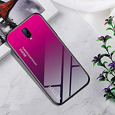 SWMGO® Gradient Color Anti-Scratches Glass Case for OPPO R17 (3
