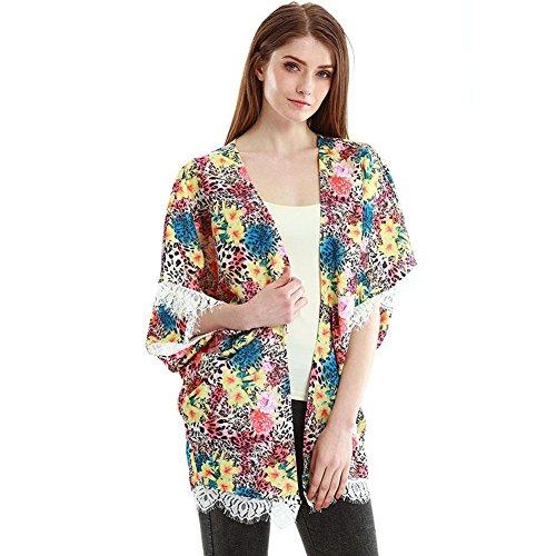 Batwing Moda Mujer Cardigans Abrigos Floral Vin Beauty Wlgreatsp De Invierno nAqffI