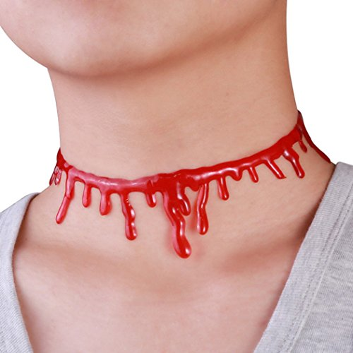 Dead Barbie Costume (Red Dandelion Newest Halloween Accessories Terrorist Sanguinary Creative Silica Gel Necklace)