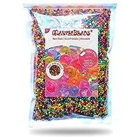MarvelBeads Water Beads Rainbow Mix (media libra) para recarga de spa, juguetes sensoriales y decoración