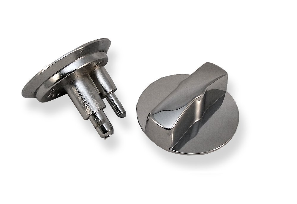Chrome Plated Concealed Latch & Knob For 1'' Restroom Partition Doors. Fits In 1-1/4'' Diameter Hole.